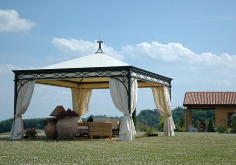 Gazebo Malatesta 600 x 600cm, anthrazit, verzinkt