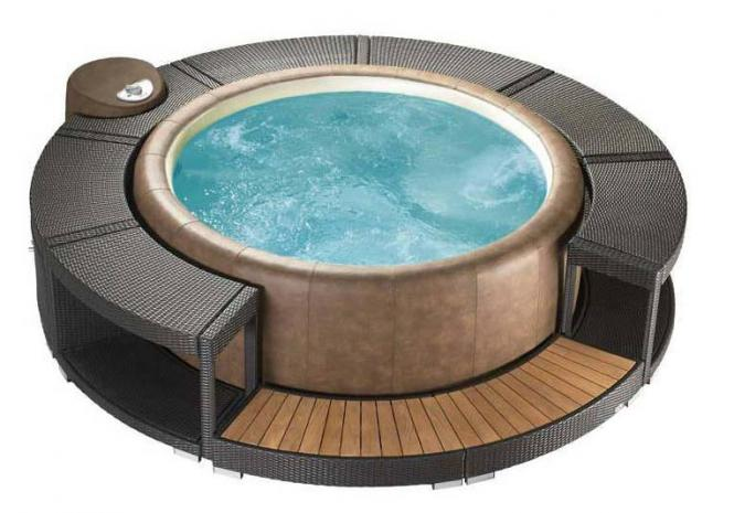 Whirlpoolumrandung mocca für Softub 300 Resort & 220 Legend