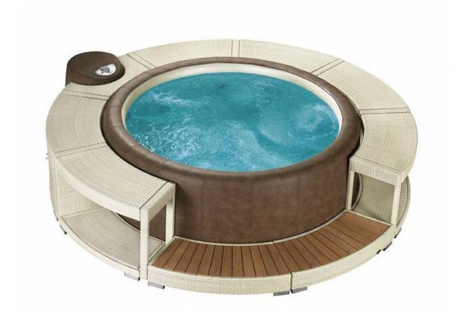 Whirlpoolumrandung white chocolate für Softub Resort & Legend