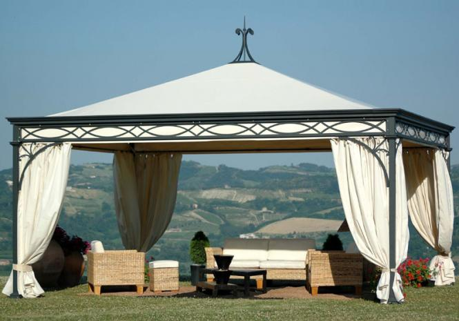 Gazebo Malatesta 500 x 600cm anthrazit, verzinkt