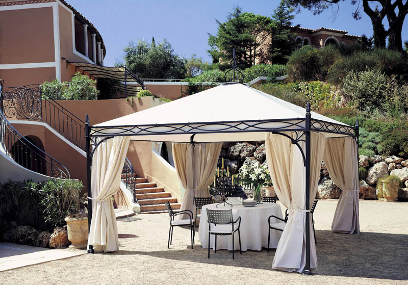 gazebo novecento 4x4 anthrazit verzinkt kaufen. Black Bedroom Furniture Sets. Home Design Ideas